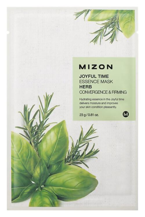 Тканевая маска для лица с комплексом травяных экстрактов Joyful Time Essence Mask Herb MIZON 23 мл