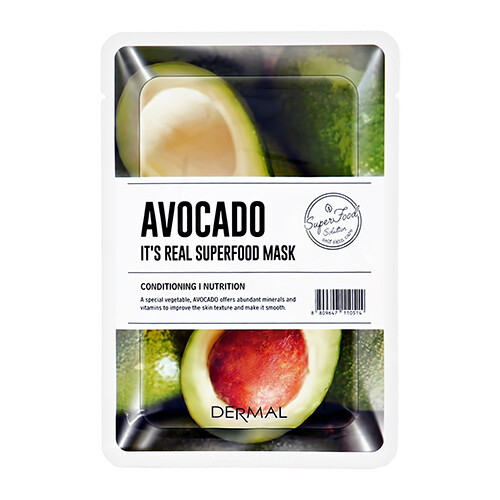 Маска для лица Dermal Its Real Superfood Avocado 25 мл