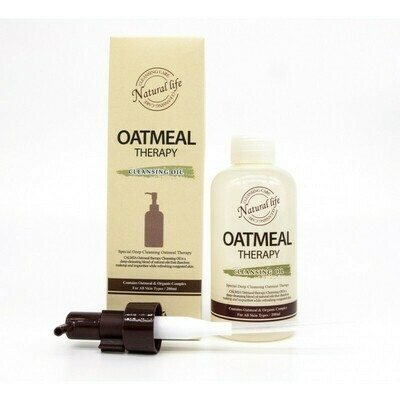 Гидрофильное масло с экстрактом масла овсянки Calmia Oatmeal Therapy Cleansing Oil 200 мл