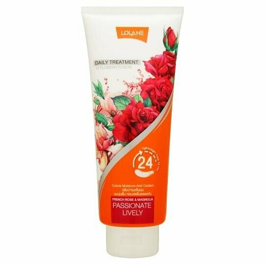 Цветочная маска для волос «Французская роза и магнолия» от Lolane, Daily Treatment Passionate Lively 300 мл