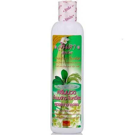 Кондиционер против выпадения волос на травах c рисовым молоком от Jinda Conditioner leaves Mee and Rice milk 250 мл