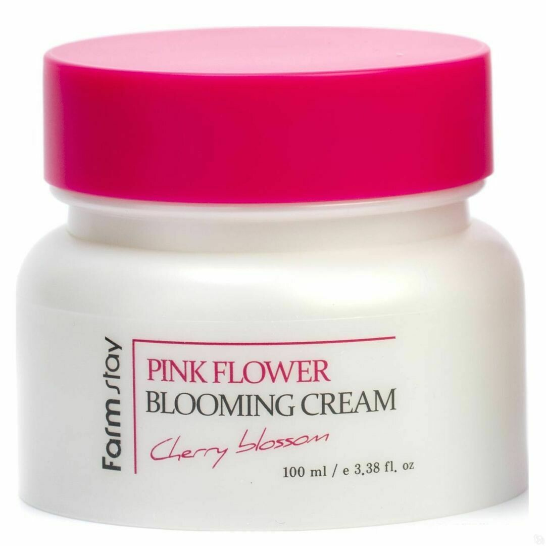 Крем для лица с экстрактом цветов вишни FarmStay Pink Flower Blooming Cream Cherry Blossom 100 мл