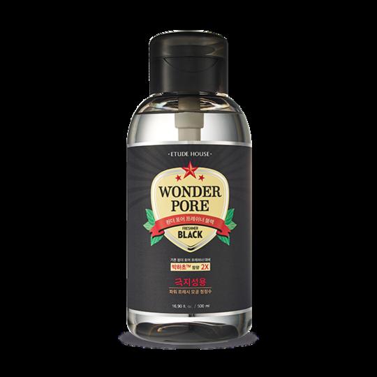 Освежающий тоник для лица с экстрактом мяты Etude House Wonder Pore Freshner Black 10 in 1 500 мл