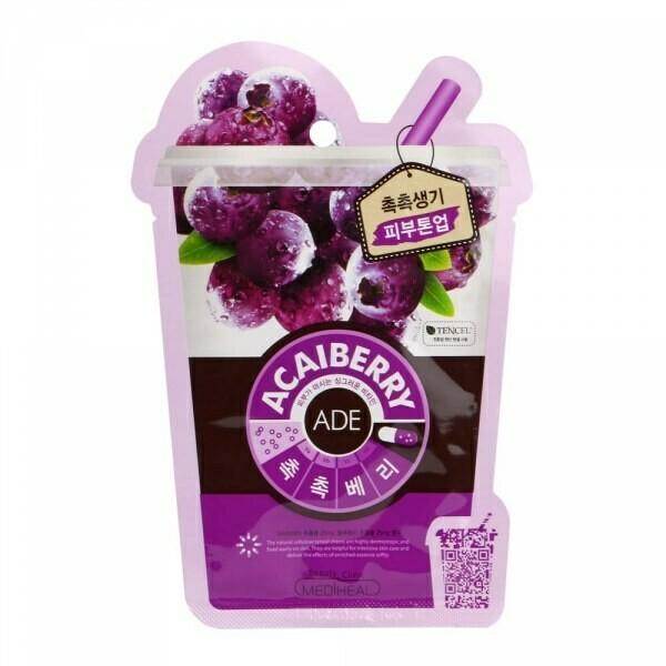 *Маска для лица с ягодами асаи MEDIHEAL Vita Mask Acaiberry 20 мл