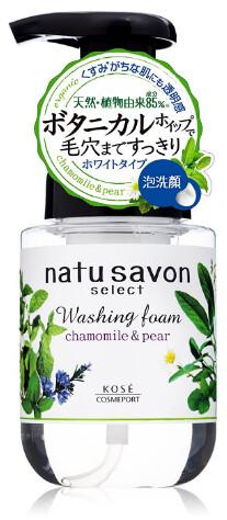 KOSE Cosmeport SOFTYMO Natu savon Washing Foam Chamomile and pearl moist Увлажняющая очищающая пенка для лица 180 мл