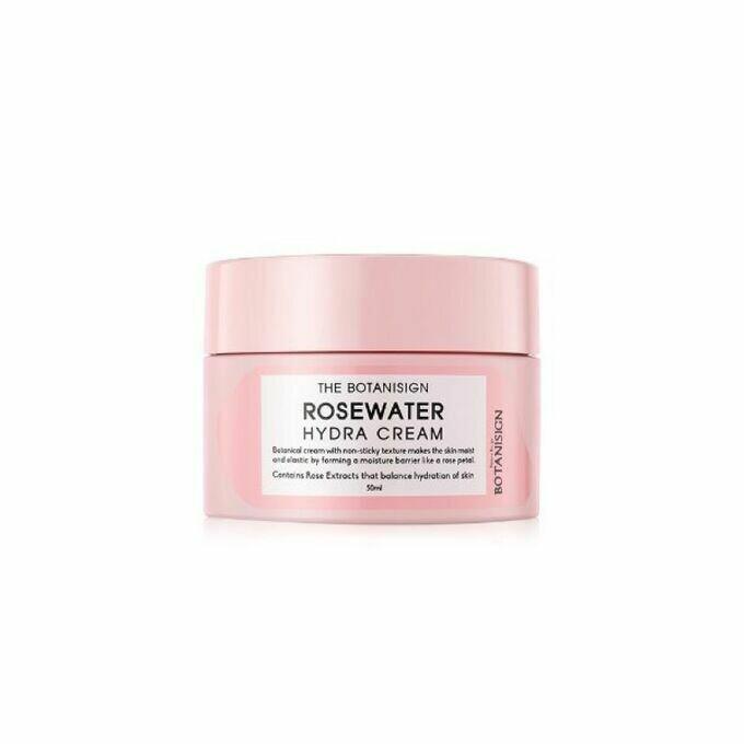 Увлажняющий крем для лица с экстрактом розы The Botanisign Rosewater Hydra Cream 50 мл
