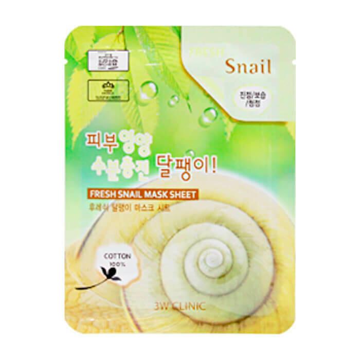 Тканевая маска 3W Clinic Fresh Snail Mucus Mask Sheet 23 мл