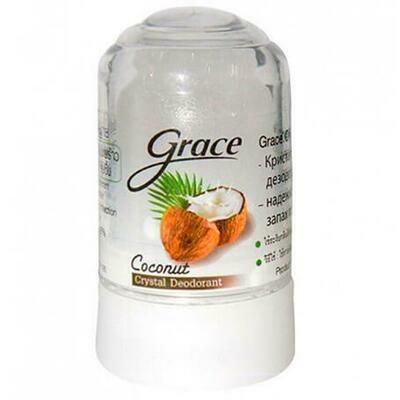 Grace дезодорант- кристалл с кокосовым маслом 40 г
