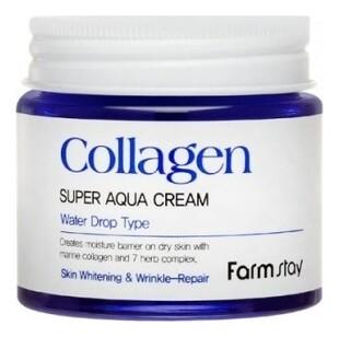 Увлажняющий крем для лица с коллагеном Collagen Super Aqua Cream Farm Stay 80 мл
