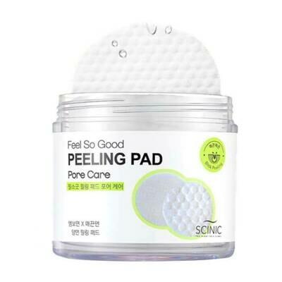 Очищающие пилинг-спонжи для выравнивания поверхности кожи лица с PHA-кислотами Scinic Feel So Good Peeling Pad Pore Care 155 мл