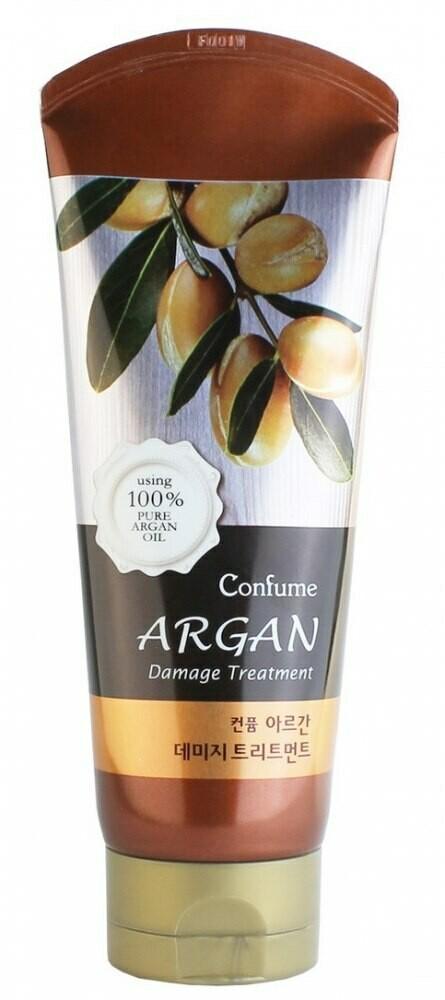 Лечебная маска для волос с аргановым маслом Welcos Confume Argan Damage Treatment