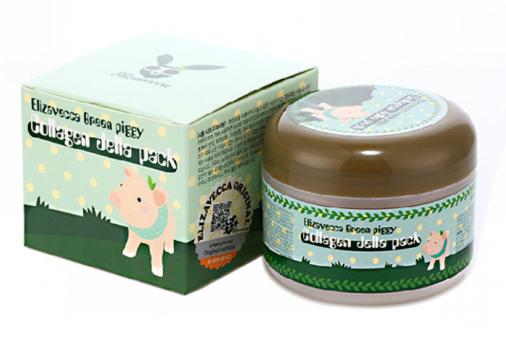 Коллагеновая маска для лица Elizavecca Green Piggy Collagen Jella Pack, 100 гр.