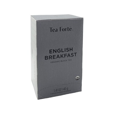 Tea Forte English Breakfast 16 Biodegradable Filterbags Germany 1.41oz
