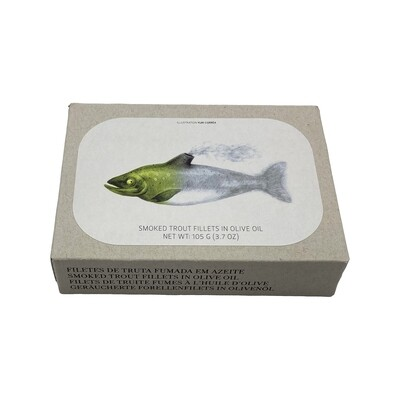 Jose Gourmet Smoked Trout Fillets in Olive Oil Portugal 3.7oz
