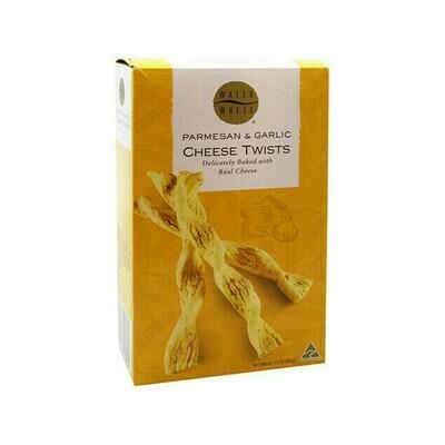 Waterwheel Parmesan & Garlic Cheese Twists Australia 3.9oz