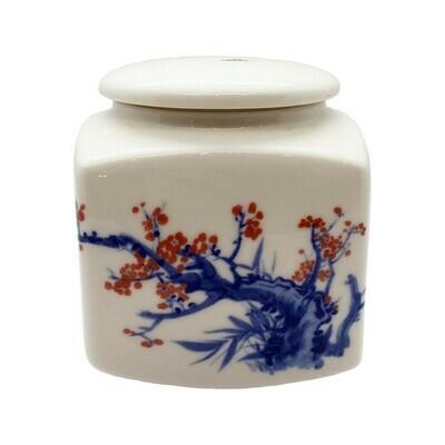 Ceramic Cherry Blossom Tea Canister