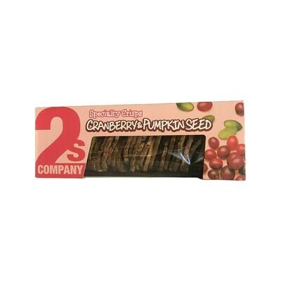 2s Company Cranberry & Pumpkin Seed Specialty Crisps 5.3 oz