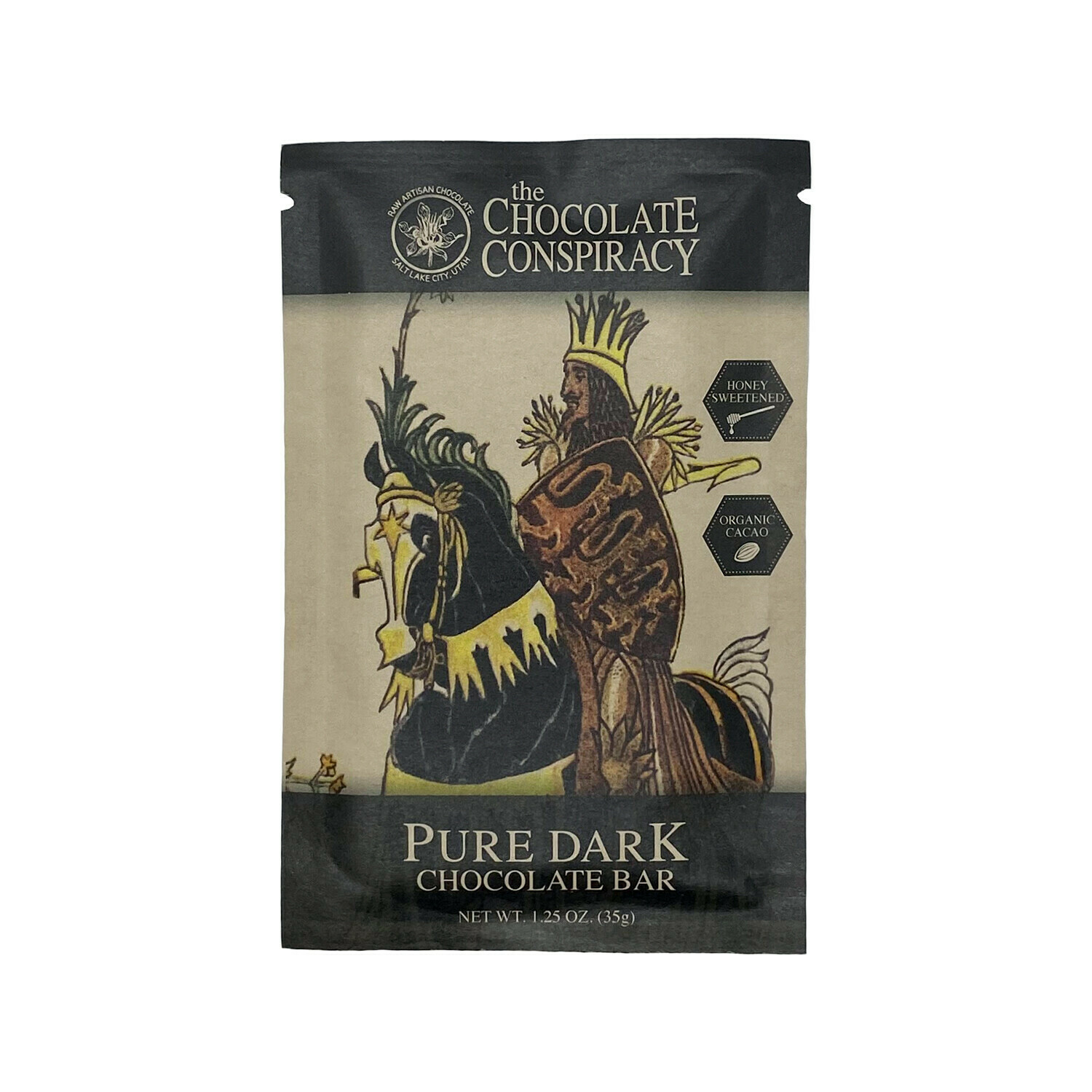 Chocolate Conspiracy Pure Dark Chocolate Bar Utah 35g