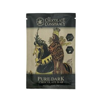 Chocolate Conspiracy Pure Dark Chocolate Bar Utah 35g