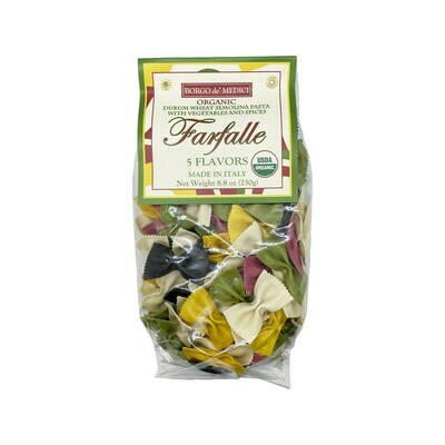 Borgo de' Medici Farfalle 5 Flavors Durum Wheat Semolina Pasta w/Vegetables and Spices Italy 8.8oz