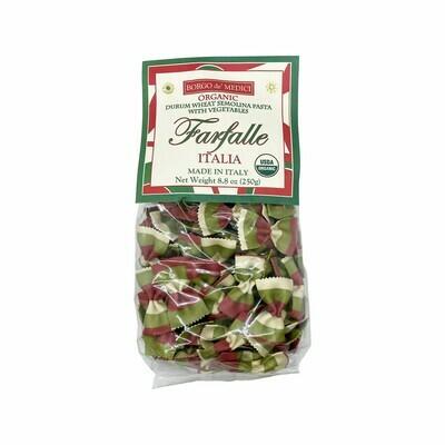 Borgo de' Medici Farfalle Italia Durum Wheat Semolina Pasta w/Vegetables Italy 8.8oz
