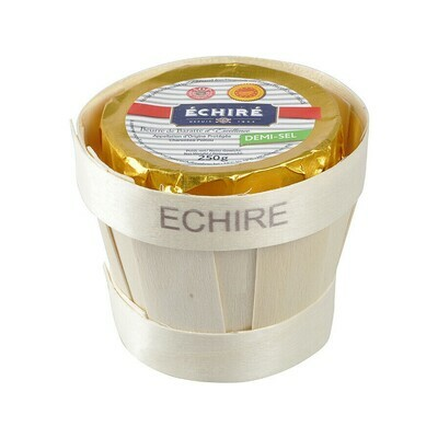 Echire Butter AOC in a Wooden Basket Salted France 8.8oz