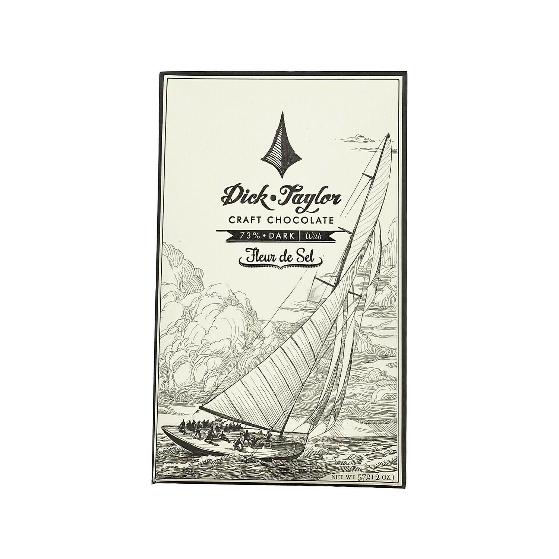 Dick Taylor Fleur de Sel Dark Chocolate 73% California 2oz