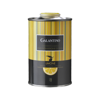 Galantino Lemon Flavored Extra Virgin Olive Oil Tin Italy 8.5oz