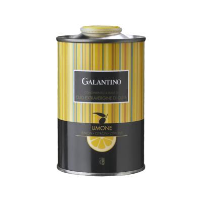 Galantino Lemon Flavored Extra Virgin Olive Oil Tin Italy 8.5oz