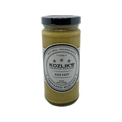 Kozlik's XXX Hot Mustard Canada 8oz