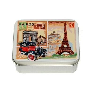 Le Blanc Soap Metal Tin Paris Rose 3.51oz France