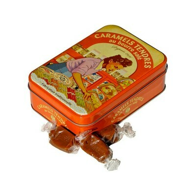 La Maison d'Armorine Salted Butter Caramels in Yvonne Tin France 5.29oz