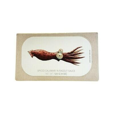 JOSE Gourmet Spiced Calamari in Ragout Sauce Spain 4oz