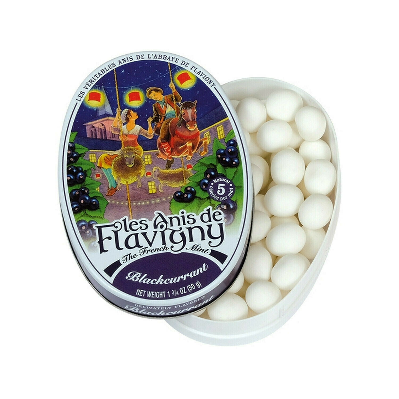 Les Anis de Flavigny All Natural Blackcurrant Flavored Mints France 1.8oz