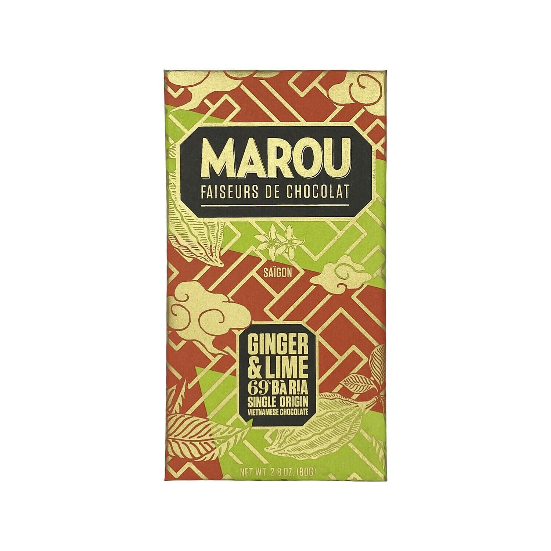 Marou Ba Ria Ginger & Lime 69% Chocolate Vietnam 80g