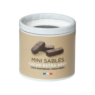 Mini Sables Cacao Extra Brut Shortbreads France 35g