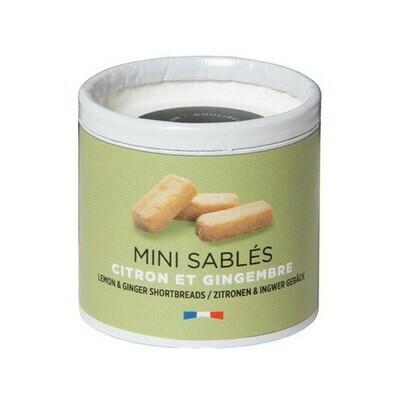 Mini Sables Lemon & Ginger Shortbreads France 35g