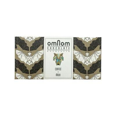 OmNom Coffee + Milk Chocolate 40% Iceland 60g