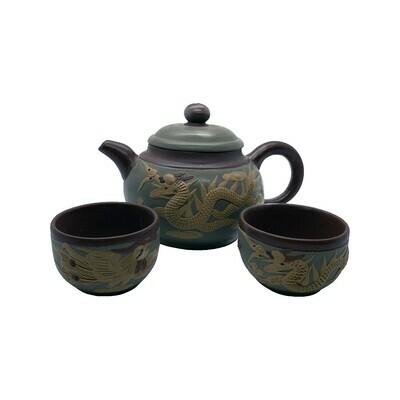 Phoenix & Dragon Sets Tea Pot w/2cups