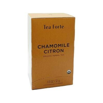 Tea Forte Chamomile Citron 16 Biodegradable Filterbags 1.13oz Germany