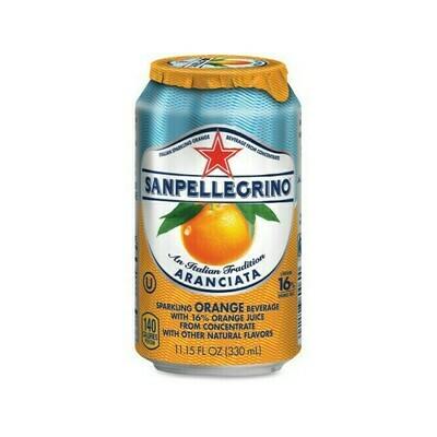 San Pellegrino Sparkling Orange Beverage Aranciata Flavor Italy 11.15oz