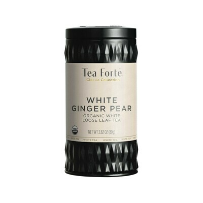 Tea Forte White Ginger Pear Loose Leaf Tea Germany 2.82oz