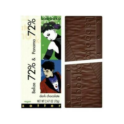 Zotter Belize 72% & Panama 72% Dark Chocolate 2.47oz
