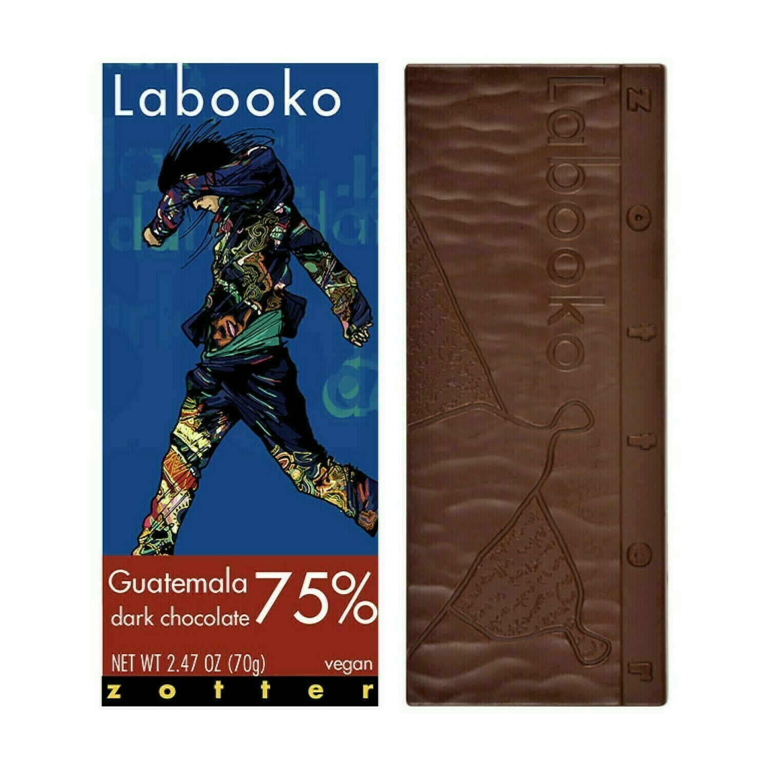 Zotter Guatemala 75% Vegan Dark Chocolate 2.47oz