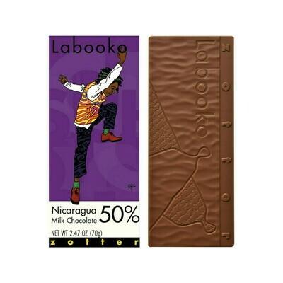 Zotter Nicaragua 50% Milk Chocolate Austria 2.47oz