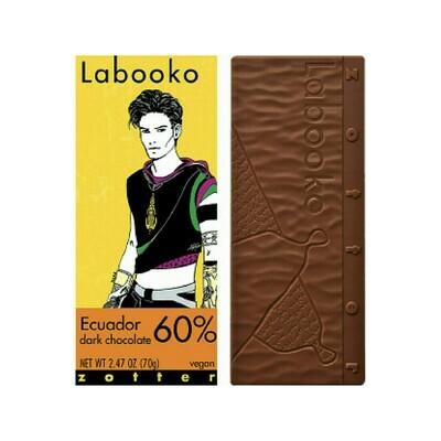 Zotter Chocolate Ecuador 60% Vegan Austria 2.47oz