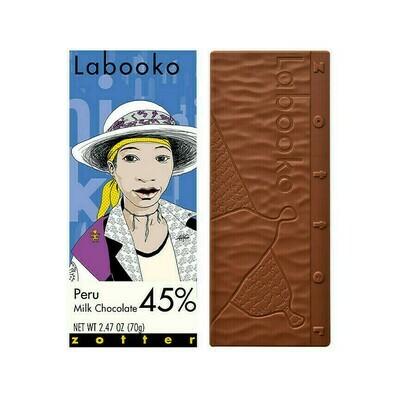 Zotter Peru 45% Milk Chocolate Austria 2.47oz