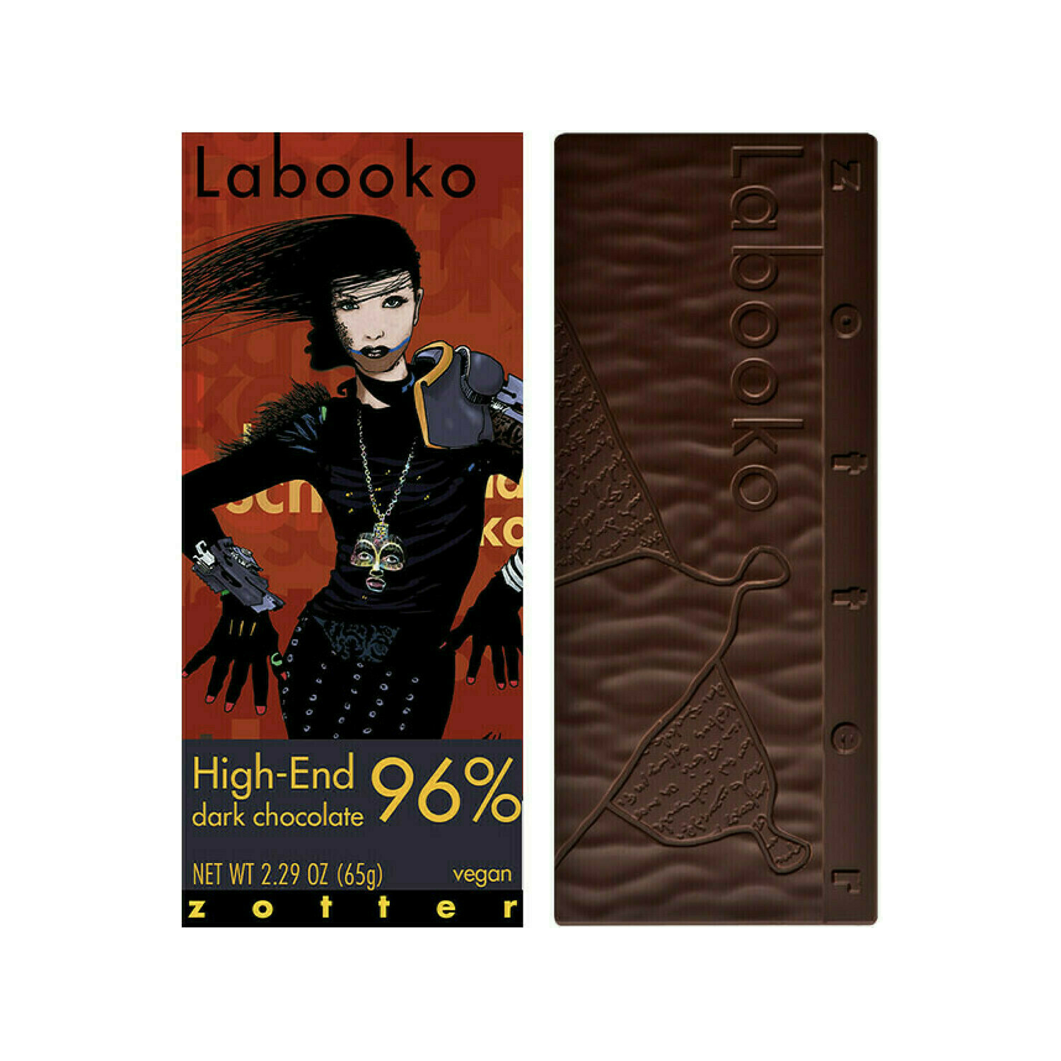 Zotter High-End 96% Dark Vegan Chocolate Austria 2.29oz
