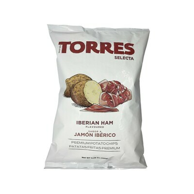 Torres Jamon Iberico Ham Premium Potato Chips 5.29oz Spain