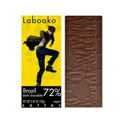 Zotter Labooko 72% Brazil Dark Chocolate Austria 2.47oz